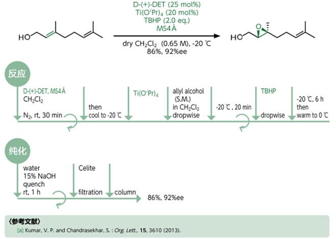 夏普莱斯-香月不对称环氧化反应
